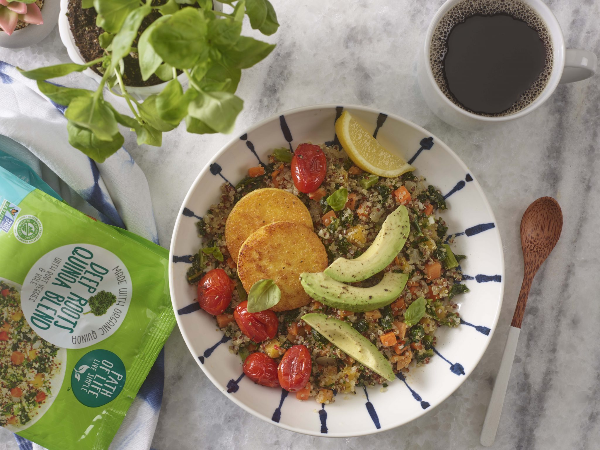 Deep Roots Vegan Breakfast Bowl